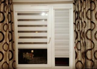 Окно с рольшторами