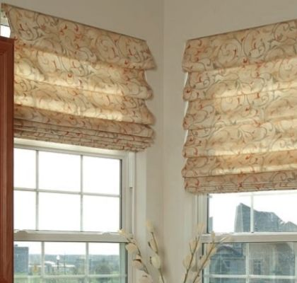 Римские шторы с напуском