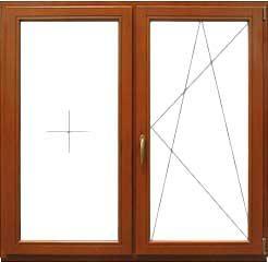Двустворчатое окно 1300 * 1400 мм